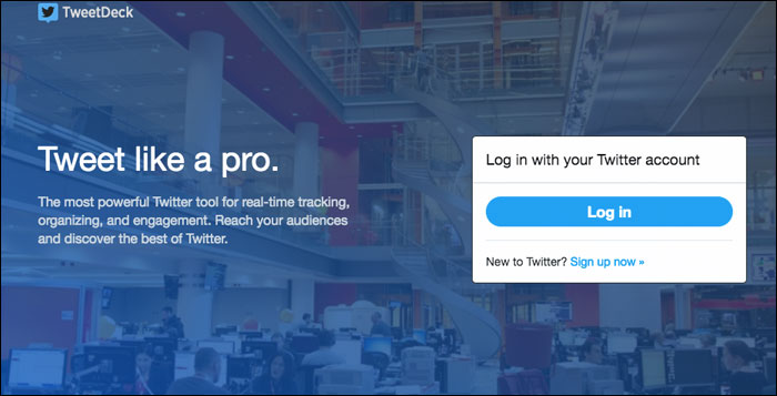 Sign in to tweetdeck Account on Computer