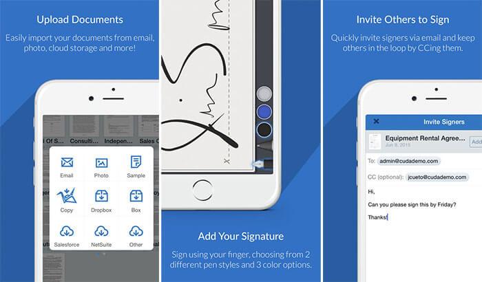 SignNow iPhone and iPad App Screenshot