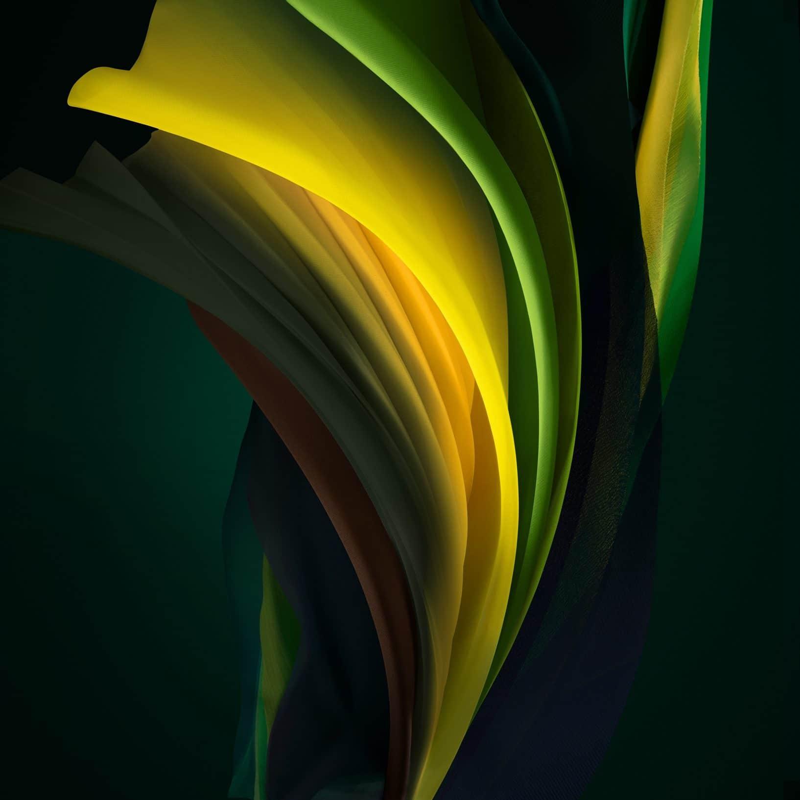 Silk Green Dark iPhone SE 2 Wallpaper