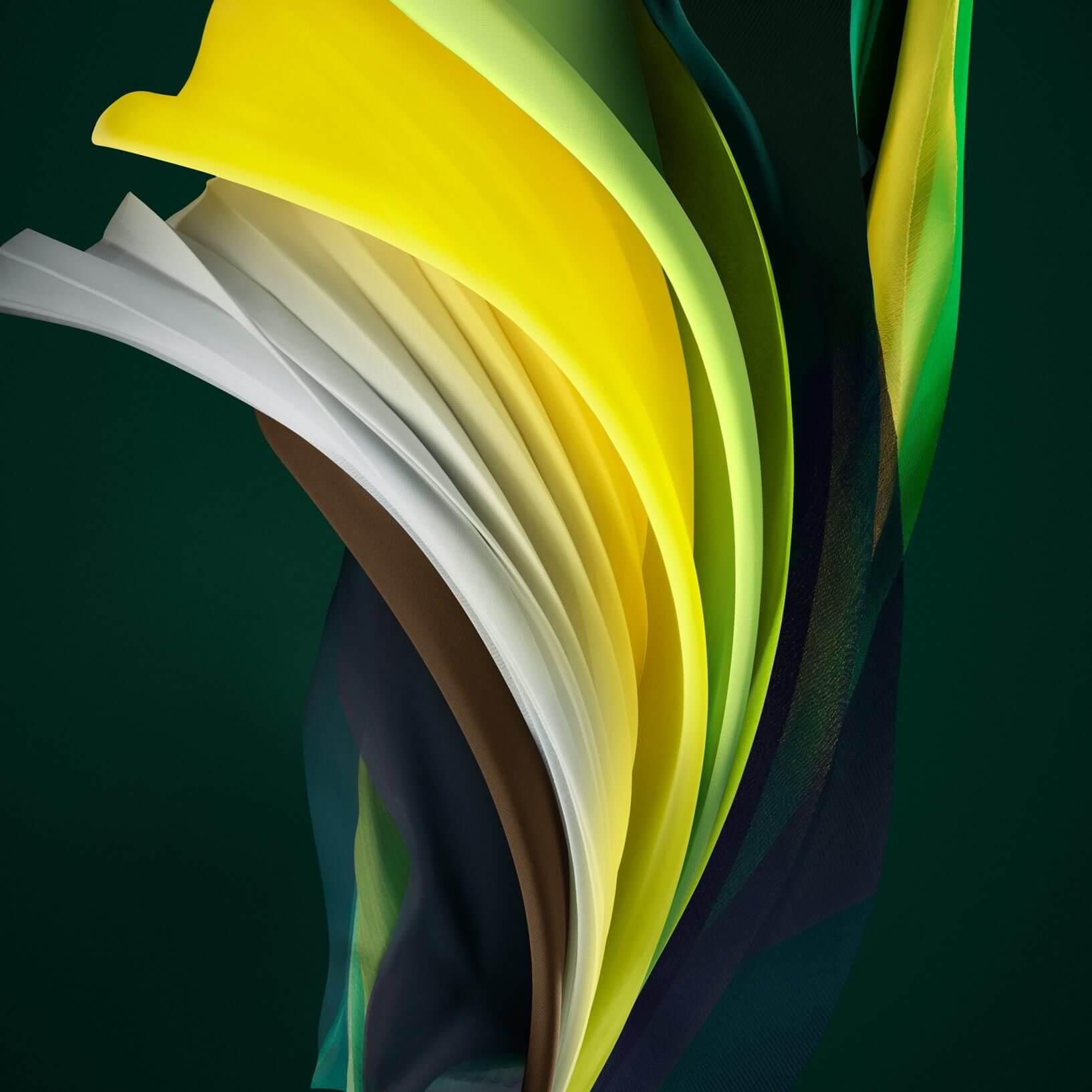 Silk Green Light iPhone SE 2 Wallpaper
