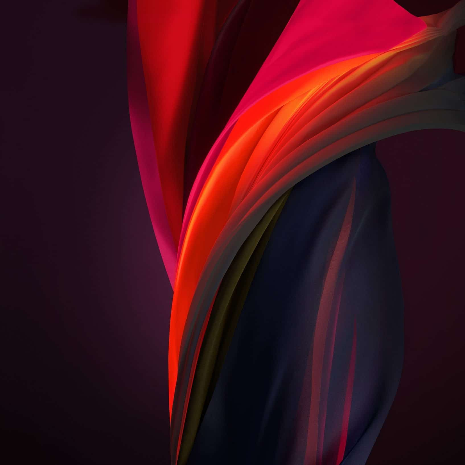 Silk Red Mono Dark iPhone SE 2 Wallpaper