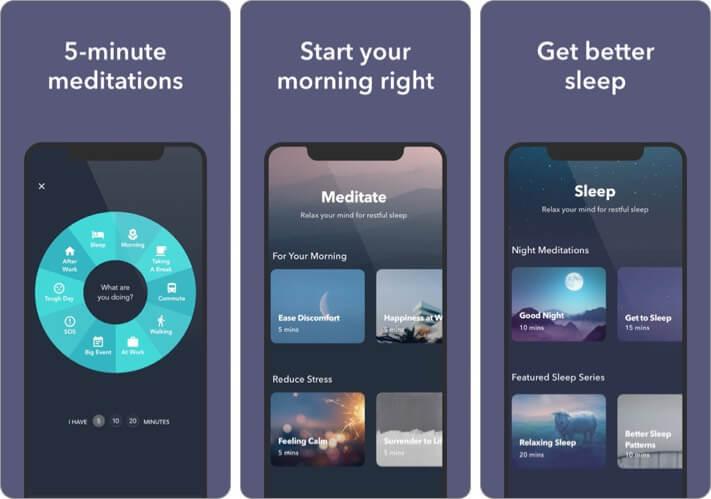Simple Habit Meditation, Sleep iPhone and iPad App Screenshot