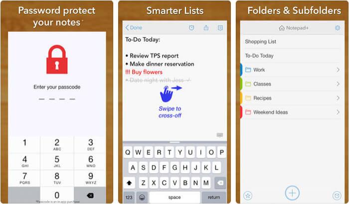 Simple notes iPhone and iPad App Screenshot