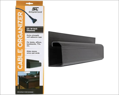 SimpleCord J channel desk cable organizer