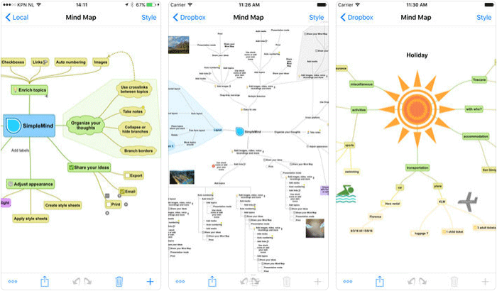 SimpleMind Pro Mind Mapping iPhone and iPad App Screenshot