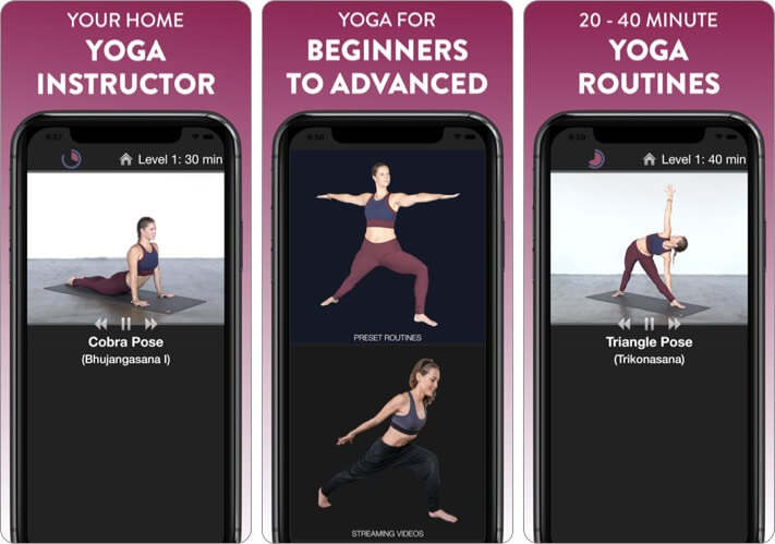 Simply Yoga iPhone and iPad App Screenshot