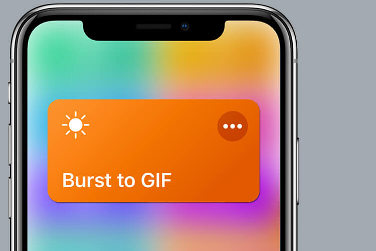 Siri Shortcut for Convert Burst Photos to GIF