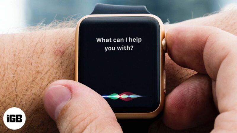 Siri is Not Working on Apple Watch