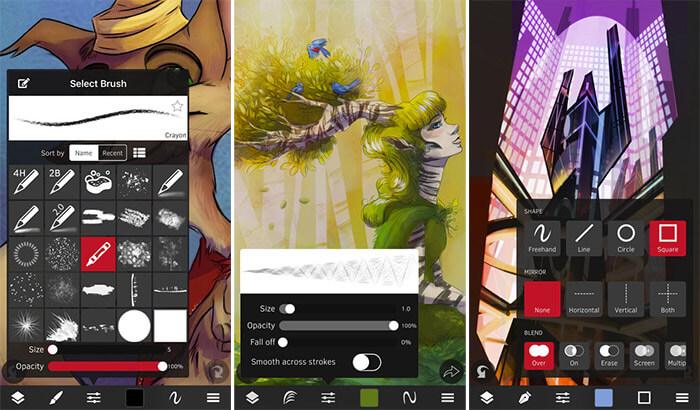 Sketch Club iPad Drawing App Screenshot