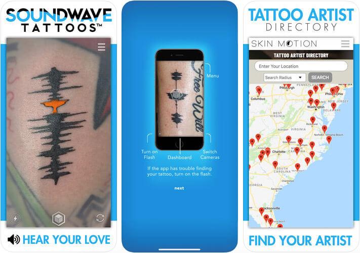 Skin Motion Tattoo Design iPhone and iPad App Screenshot