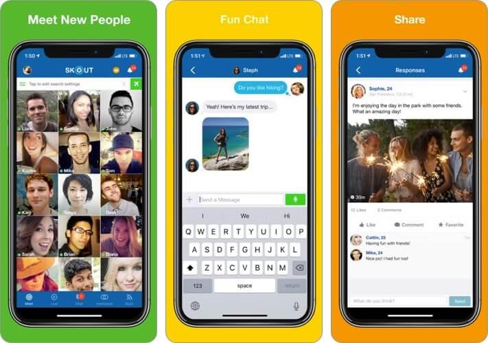 Skout iPhone Friendship App Screenshot
