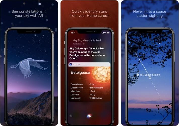 Sky Guide astrophotography iPhone app screenshot
