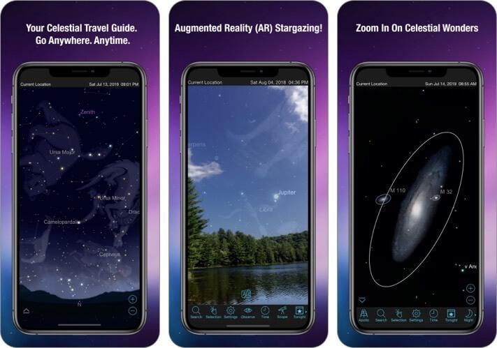 Sky Safari Stargazing iPhone and iPad App Screenshot