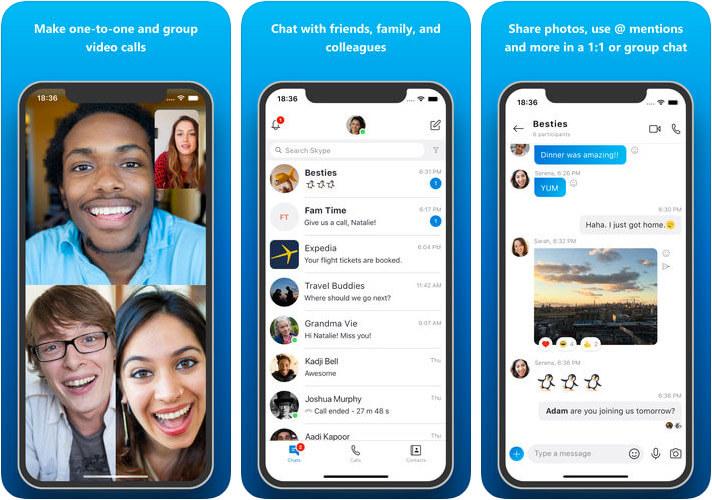 Skype iPhone App Screenshot