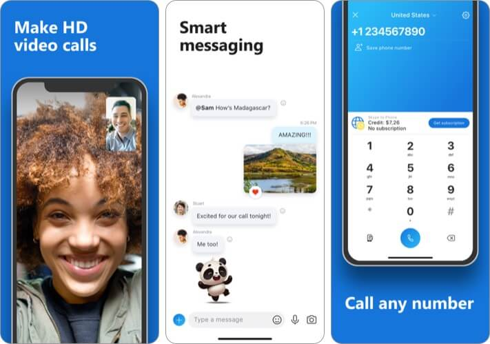 Skype iPhone and iPad App Screenshot