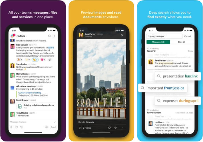 Slack Marketer App for iPhone and iPad