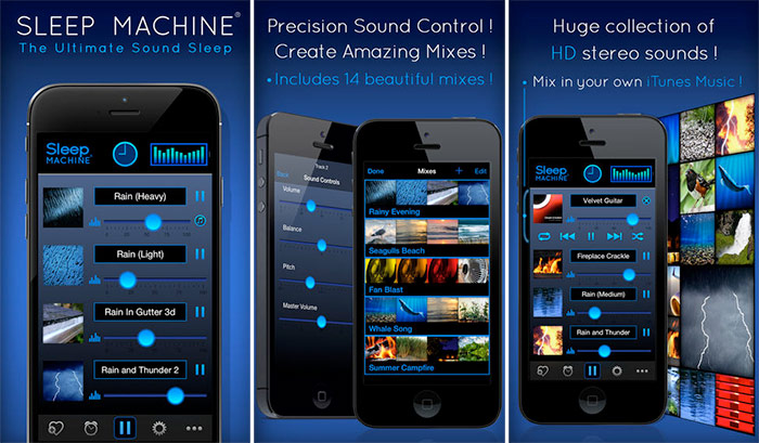 Sleep Machine iPhone and iPad App Screenshot