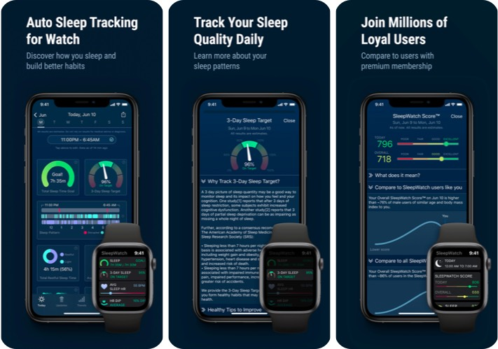 Sleep Watch by Bodymatter iPhone App Screenshot