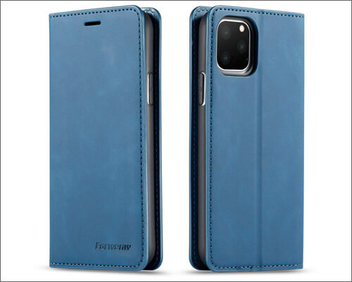 Slhya Executive Case with Magnetic Stand for iPhone 11 Pro Max