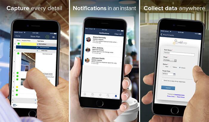 Smartsheet iPhone and iPad App Screenshot