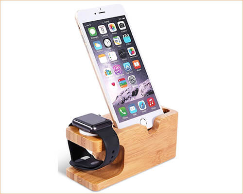 Smooth Sales iPhone 5-5s, and iPhone SE Wooden Dock