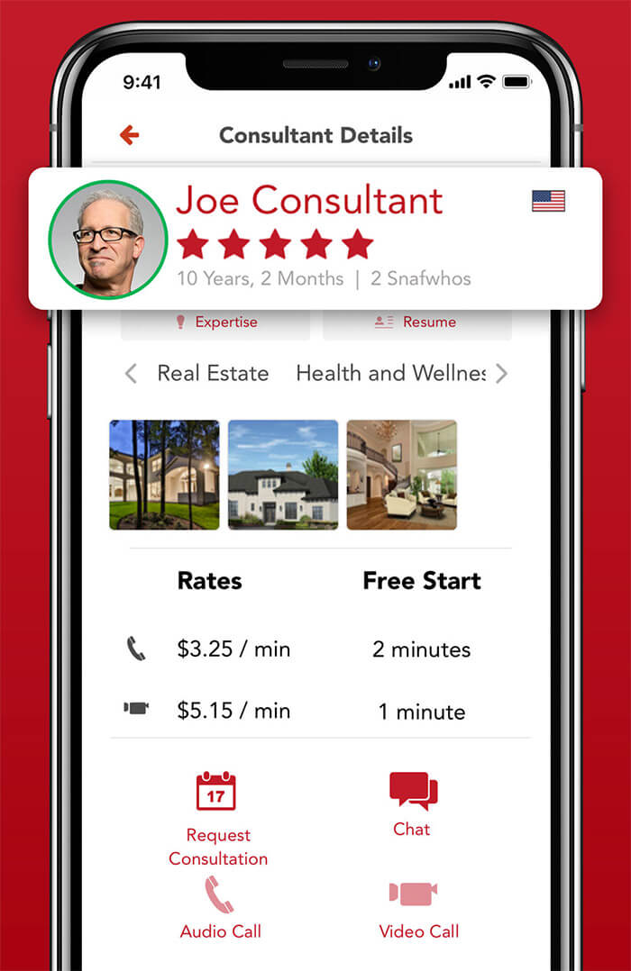 Snafwho iPhone Consulting Services App