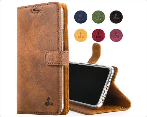 SnakeHive Vintage Look iPhone 7 Plus Wallet Case