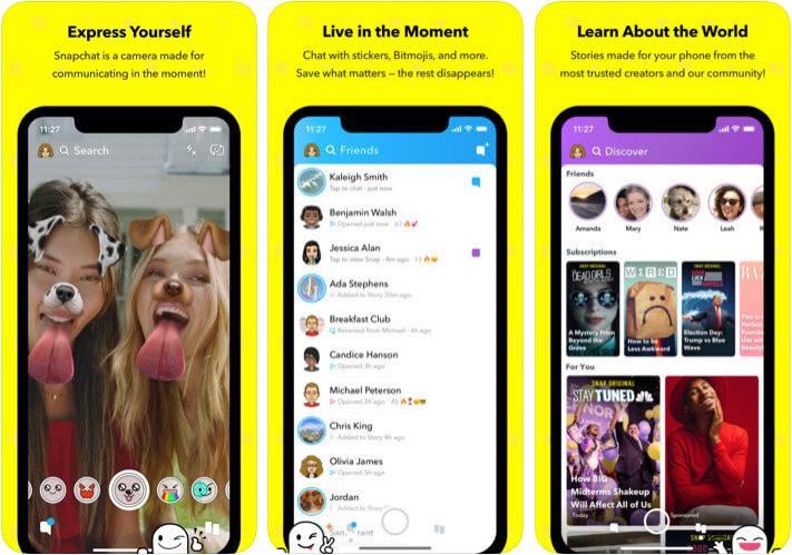 Snapchat Face Swap iPhone and iPad App Screenshot