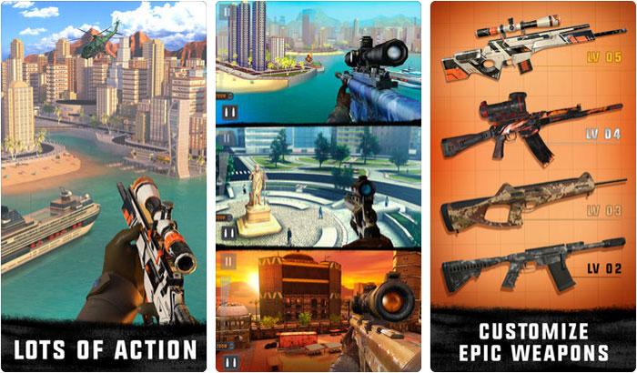 Sniper 3D Assassin iPhone and iPad Game Screenshot