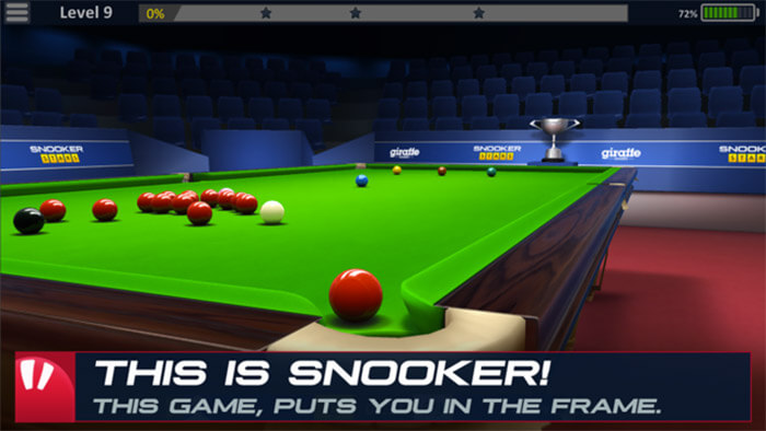 Snooker Stars Pool Game App for iPhone and iPad Screenshot