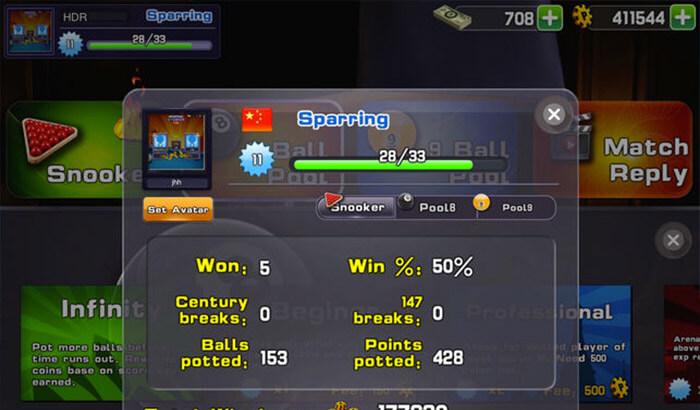 Snooker World Sports iPhone and iPad Game Screenshot