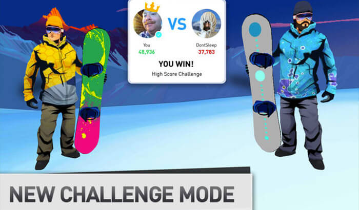 Snowboarding The Fourth Phase Sports iPhone and iPad Game Screenshot