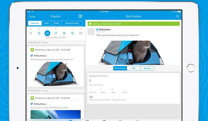 Social Studio Salesforce iPad App Screenshot