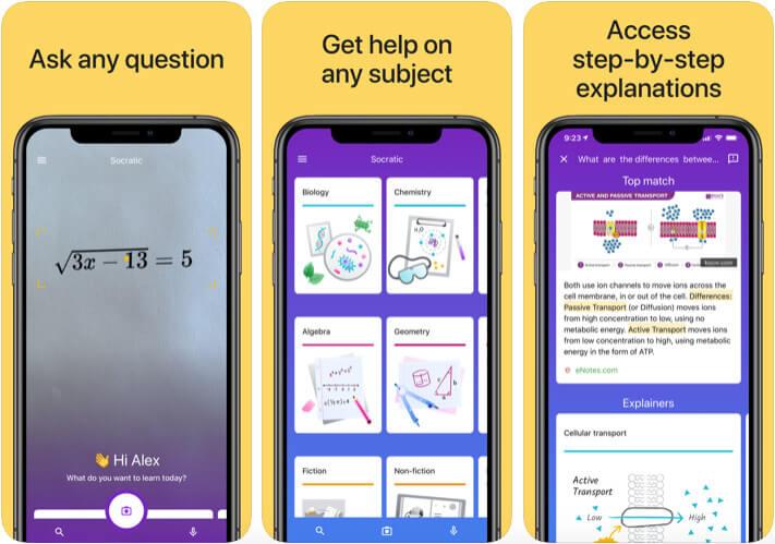 Socratic by Google iPhone and iPad Chemistry App Screenshot