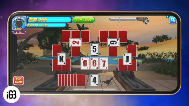 Solitaire Time Warp Card Game for iPhone and Android