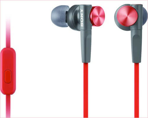 Sony MDR-XB50AP-R iPhone 6-6s Plus Earbuds