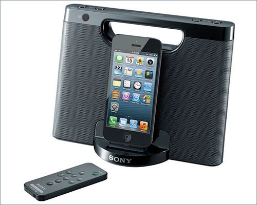 Sony RDP-M7IPN Docking Station with Speakers for iPhone Xs, Xs Max, and iPhone XR