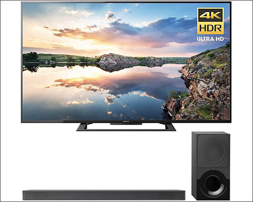 Sony Ultra HD Smart LED TV with Soundbar with Dolby Atmos