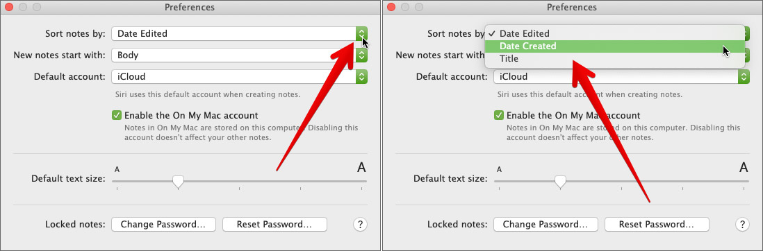 Sort Your Notes in Mac Notes App