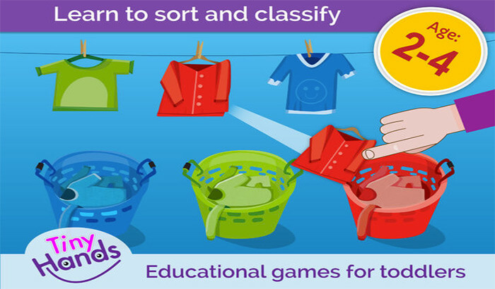 Sorting Puzzles for Kids PreSchool iPhone and iPad Game Screenshot