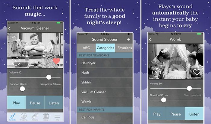 Sound Sleeper iPhone and iPad App Screenshot