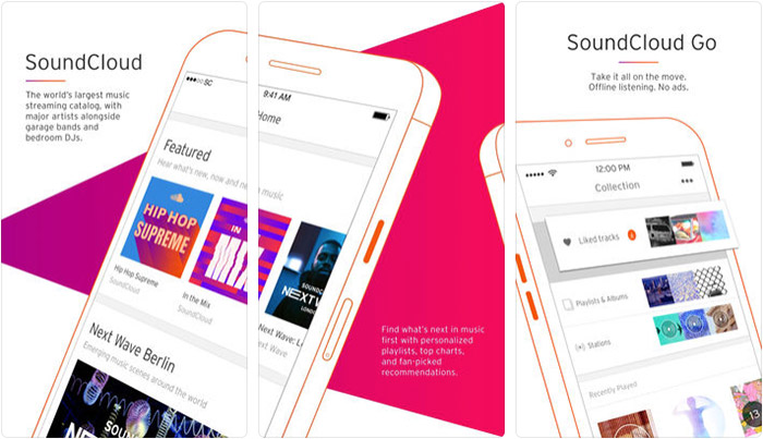 SoundCloud Music Streaming iPhone and iPad App Screenshot