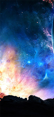 Space Fantasy iPhone XS Wallpaper