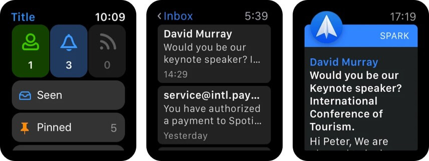 Spark Mail app for Apple Watch