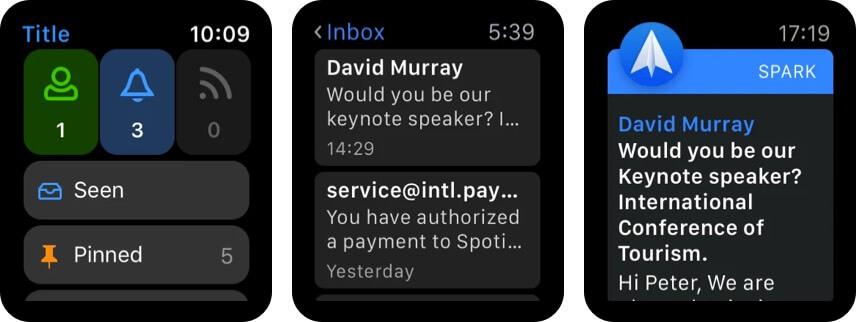 Приложение Spark Mail для Apple Watch