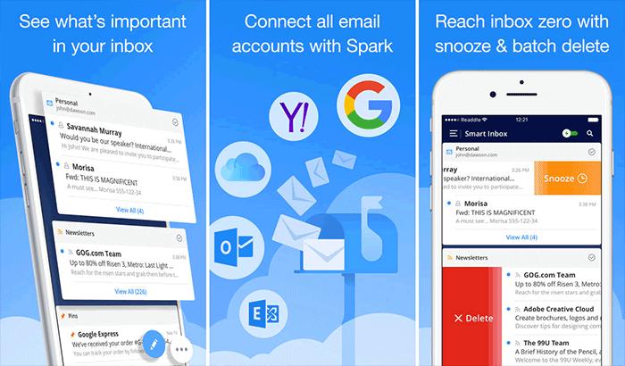 Spark Productivity iPhone and iPad App Screenshot