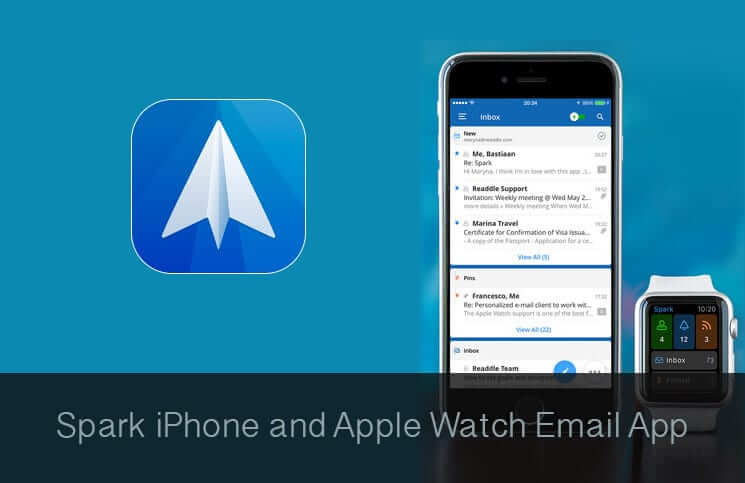 Spark iPhone and Apple Watch Email App