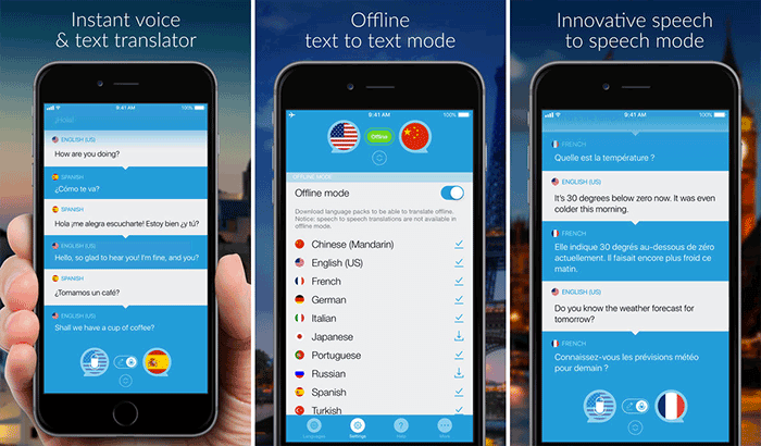 Speak & Translate iPhone App Screenshot