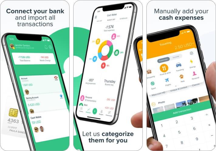 Spendee Expense Tracking iPhone and iPad App Screenshot