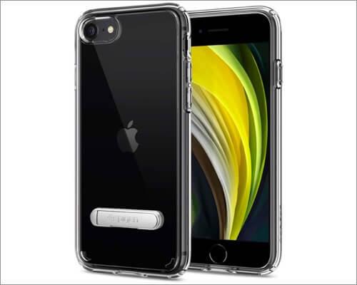Spigen Clear Kickstand Case for iPhone SE 2020